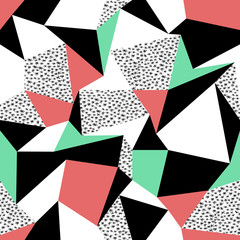 fototapeta kolorowe trójkąty