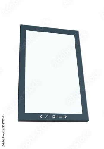 tablet verticale prospettiva isolato Poster