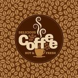 Coffee design template, creative vector
