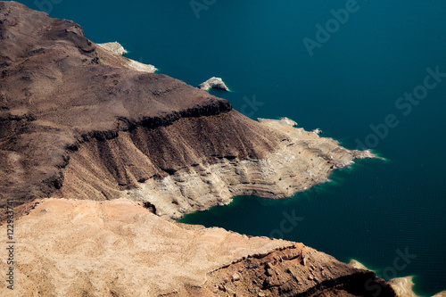 Papiers peints Cappuccino Aerial view of Lake Mead