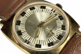 Old soviet analog watch close up