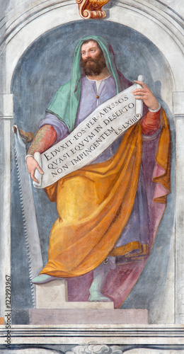 ROME, ITALY - MARCH 11, 2016: The prophet Ezekiel fresco in church Basilica di San Vitale by Tarquinio Ligustri (1603) Poster