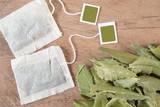 Tea bags and neem leaves - Azadirachta indica