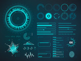 Fototapety Futuristic user interface HUD. Infographic vector elements