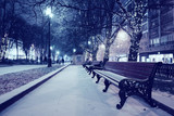 Night winter landscape in amazing city - 123017738