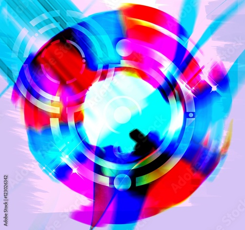 Abstract  rotating swirl background