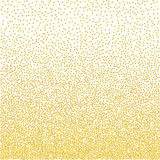 Golden grainy dotwork gradient texture. Retro halftone stippled background.