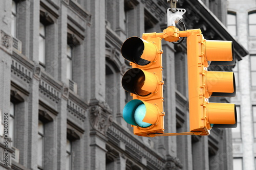 Keuken foto achterwand New York TAXI Traffic Light in New York