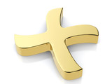 Golden cancel symbol