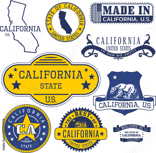 Generic Stamps And Signs Of California State Buy Photos Ap