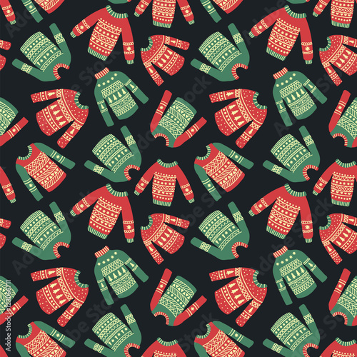 Cotton fabric christmas sweater pattern