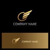 round stripe wing gold logo