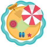 beach vacation on tropical island - 123081774