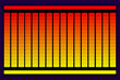RGB - 256 Colours - Red to Yellow - Showing RGB, HSB and HEX values