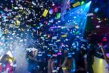 Confetti in a nightclub