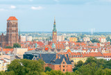Gdansk. Aerial view of the city.