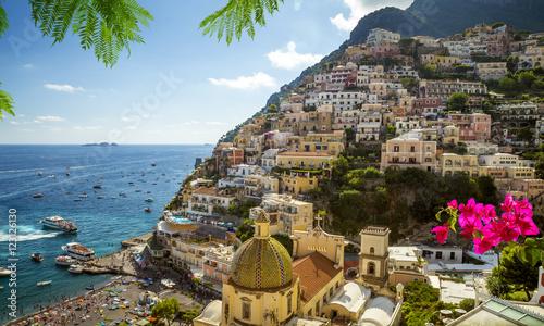 Panorama of Positano town, Amalfi Coast, Italy