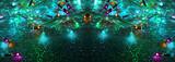 Fototapety Colorful Christmas lights garland