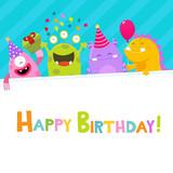 Happy Birthday Monsters Card