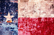 Grunge stylized flag of Texas State