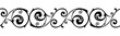 Vector horizontal seamless vintage black and white vignette.