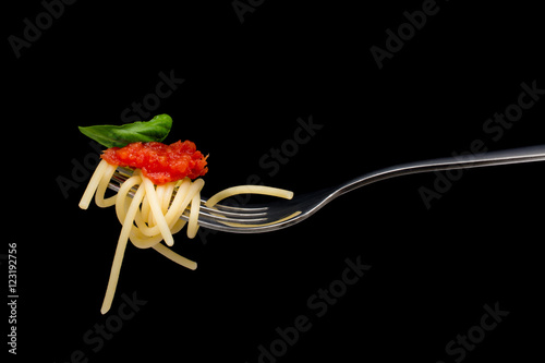 Poster Pasta in black background.
