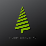 Fototapety Modern vector christmas tree made from lines
