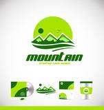 Mountain peak logo icon design