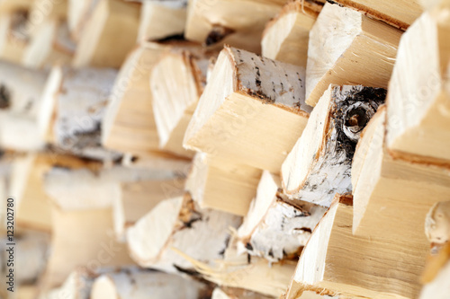 Poster Close-up of firewood in stock