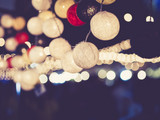 Fototapety Lights decoration Party Event Festival outdoor bokeh
