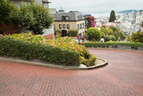 View of Lombard Street in San Francisco, also known as the 'crookedest street' .