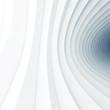 Bent vortex tunnel interior, 3d render