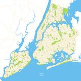 New York City Map Full - vector illustration - 123241176