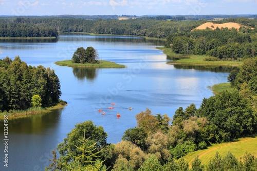 Poland landscape - Mazury lake region