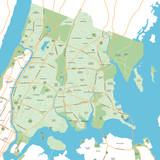 Bronx - New York City Map - vector illustration