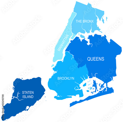 New York City Map Vector Illustration Buy Photos Ap Images