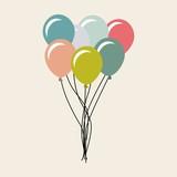 balloons air party celebration vector illustration design - 123247905