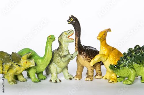 Poster Collezione di dinosauri giocattolo