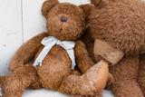 two brown teddy bears
