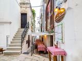 white houses of village in Apulia - 123289135
