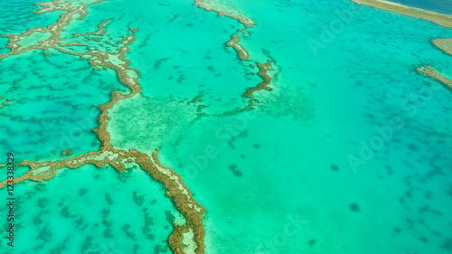 Luftaufnahme vom Great Barrier Reef in Queensland, Australien