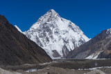 K2 mountain peak view from Concordia camp - 123345304