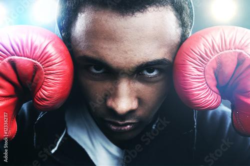 Poster Confident boxer