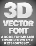 Vector 3D font - 123363306