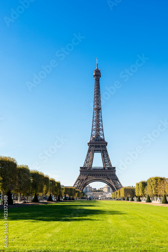 Poster Views of Eiffel Tower from the Champ de Mars