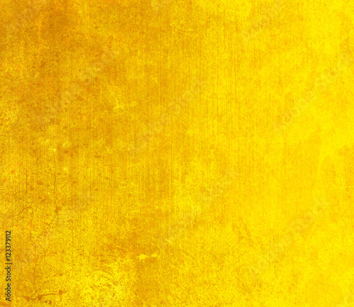 Foto Murales Yellow grunge wall for texture background