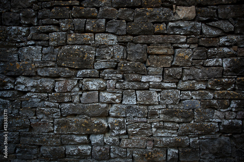 Ancient wall built