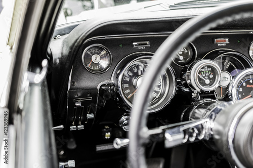 Poster Mustang Steering Wheel dashboard