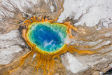 The Grand Prismatic Spring in the Midway Geyser Basin - Yellowstone National Park - 123397156
