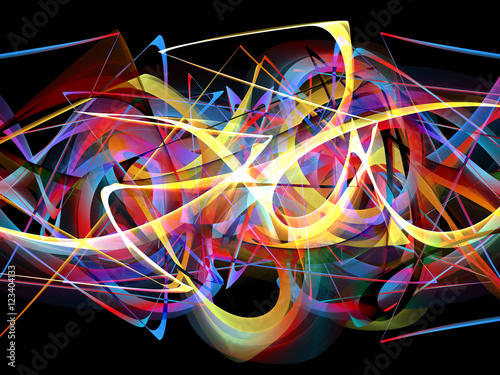 Fotobehang Graffiti abstract colorful graffiti